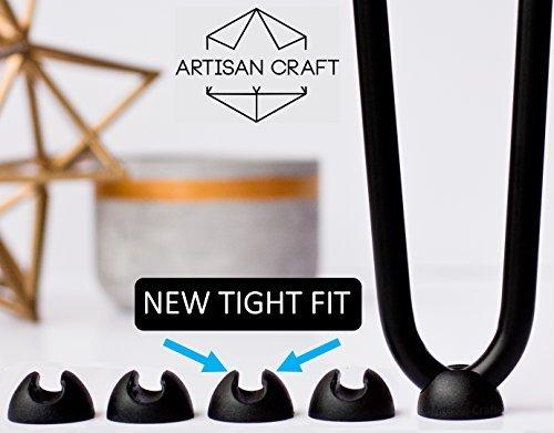 Artisan Craft Protector de horquilla pierna pies Negro Pack de 4