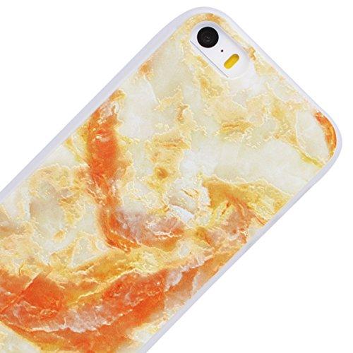 WE LOVE CASE Coque iPhone 5 / 5s / SE, Souple Gel Coque iPhone SE Silicone Motif Fine Coque Girly Resistante, Coque de Protection Bumper Officielle Coque Apple iPhone 5 iPhone 5S iPhone SE Mandala Marbre