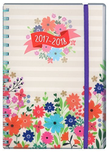 Tallon A5 Day Per Page Floral Academic Mid Year Student Diary 2017-2018