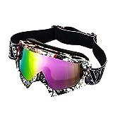 E-more - Occhiali antinebbia unisex, con lenti sfumate, antivento, antipolvere, resistenti ai graffi, flessibili, ideali per motocross, motocicletta, bicicletta, sci, snowboard, fuoristrada