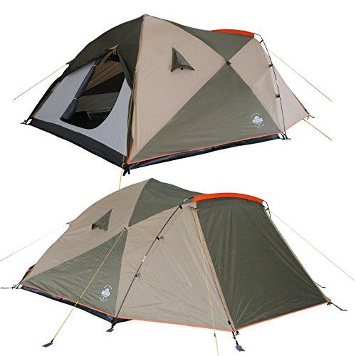 Lumaland Outdoor Pop up Familienzelt Wurfzelt 6 Personen Zelt Camping Festival Etc. 315 x 245 x 170 cm robust Grün - 7