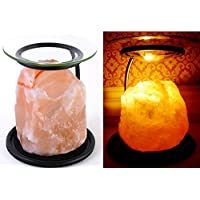 Himalayan Natural Salt Oil Lamp Burner / Yankee Candle Tart Burner Warmer / Tealight Holder by