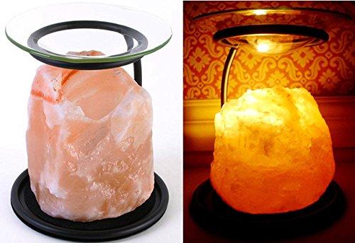 Öllampe/Teelichthalter/Duftlampe/Stövchen aus natürlichem Himalaya-Salzstein, auch für Duftwachs von Yankee Candle, aus der Klass Home Collection® Wärmer Duftlampe