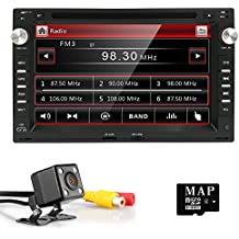 "HIZPO 7"" Touchscreen Car In Dash Radio DVD Player GPS Navigation fit for VW Volkswagen Passat Jetta CITI CHICO TRANSPORTER T5 Golf Polo MK3 MK4 MK5 SEAT with Rear Camera"