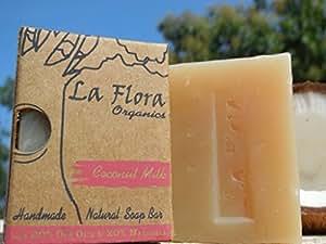 La Flora Organics Coconut Milk Handmade Soap Bar- with Real Coconut Milk, 100 gms