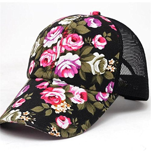 Ansenesna Stickerei Cotton Baseball Cap Boys Girls SnapBack Hip Hop Flat Hut (Schwarz) (Puma Hut Trucker)