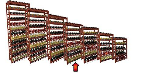 Weinregal / Flaschenregal / Regal System 'Len mar', RW-1-56 BRAUN Holz, Kiefer braun gebeitz