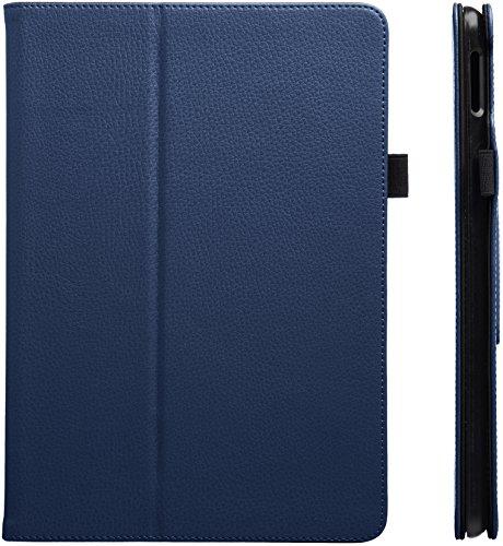 AmazonBasics iPad 2017 PU Leather Case Auto Wake/Sleep Cover, Navy, 9.7