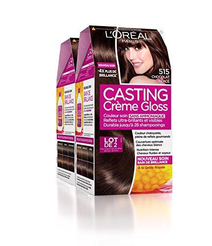 loral paris casting crme gloss coloration ton sur ton sans ammoniaque 515 chocolat glac - Coloration Ton Sur Ton Blond