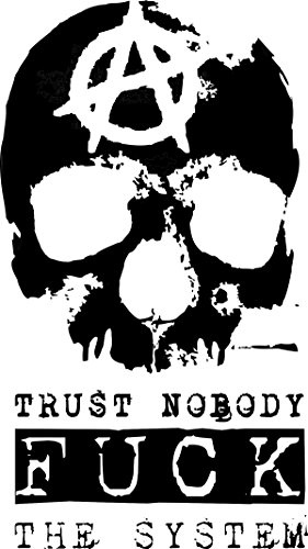 Trust Nobody Fuck the System-Tshirt Gelb
