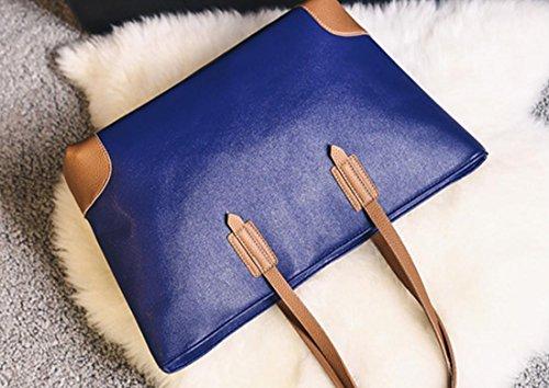Femmes sacs à main sac à bandoulière PU Sac fourre-tout en cuir , grey Black