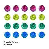 WINTEX 24 farbige Magnete / Whiteboard-Magnete / Tafelmagnete in 4 Farben mit 2 Jahren Zufriedenheitsgarantie – Magnetische Map Pins / Magnetfiguren / Magnetische Schach Bauern Figuren - 3
