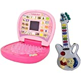 Shop & Shoppee Kids Learning Educational laptop with Musical Guitar (Multicolor)