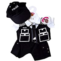 Build Your Bears Wardrobe 15-Inch Clothes Fit Build Bear Police Officer Costume