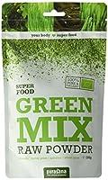 Mélange de poudre de chlorella, de spiruline, d'herbe de blé et d'herbe d'orge Naturellement riche en acide folique, sélénium et en fer Source de nombreux (phyto)nutriments Green mix est un mélange de chlorella, de spiruline, d'herbe de blé et d'herb...