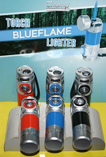 Champ Outdoor Blue Jet Flamme Feuerzeug mit Power LED Taschenlampe Windproof Camping Zigarre Zigarette