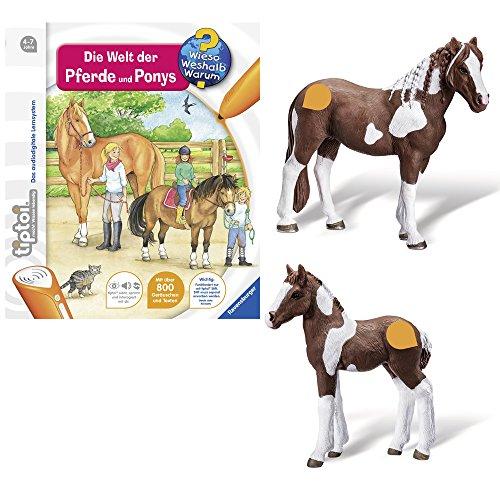 Ravensburger tiptoi 3-teiliges Set Wieso? Weshalb? Warum? Die Welt der Pferde und Ponys + Tierfigur...