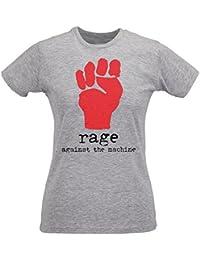 Damen-T-shirt Slim Rage Against The Machine Fist Logo - Maglietta 100% Baumwolle ring spun LaMAGLIERIA