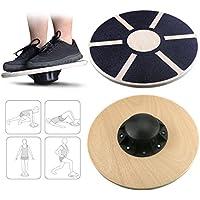Emooqi Balance board Table de Equilibrio 39.5cm - Plataforma Tablero Equilibrio Coordinación Entrenamiento Fitness Wobble Balance Board ideal para practicar deporte y fisioterapia(150KG Max Load)