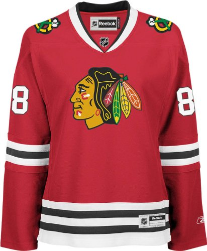 adidas NHL Chicago Blackhawks Patrick Kane Damen Premier Player Road Jersey, Damen, Rot, Small -