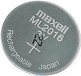 Maxell ML2016 wiederaufladbare Li-Ion-Knopfzelle, 3 V, 25 mAh