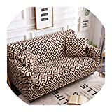 Nihaoma Feder-Muster-Sofa-Abdeckung Slipcover Sofa für Sofa Handtuch Wohnzimmer Möbel Protective Sessel Couches Sofa,7,Dreisitzer Sofa