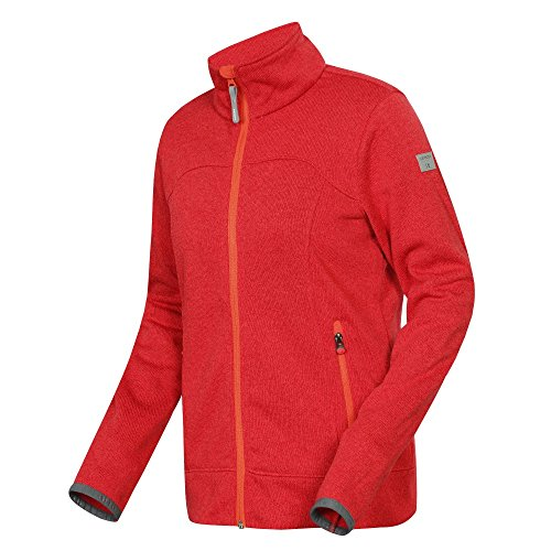 Icepeak Liv Damen Strickjacke Jacke Fleece , Größe:44;Farbe:Rot