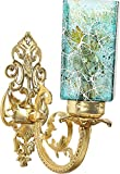 NMII Trendy & Antique Flower Pattern Painting Blue Color Sconce Wall Light Fancy Light Decorative Light (Wall Light For Bedroom, Gallery, Kitchen,Wall lamp),(Set Of 1)