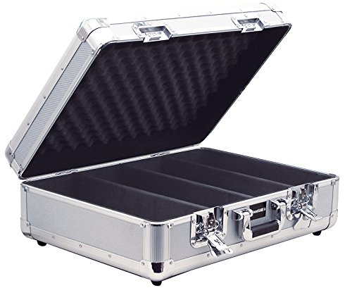 Price comparison product image SoundLAB Euro Style Soft Lined 150 CD Case with Lift Off Lid - Silver