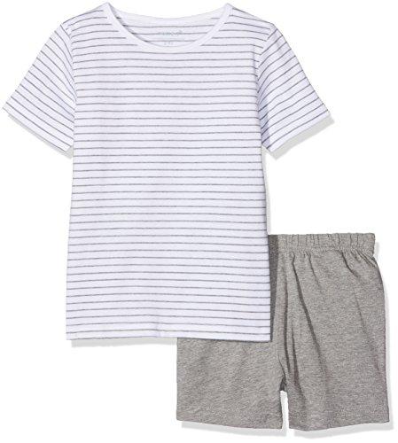 NAME IT Baby-Mädchen Zweiteiliger Schlafanzug NMFNIGHTSET Grey Mel SS Shorts, Mehrfarbig Melange, 92