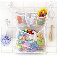 Lalang Baby Badewanne Spielzeug Aufbewahrungstasche Tasche Badespielzeug Netz Organizer Ordentlich Toys Mesh Beutel Mit 2 Saugwirkung Haken