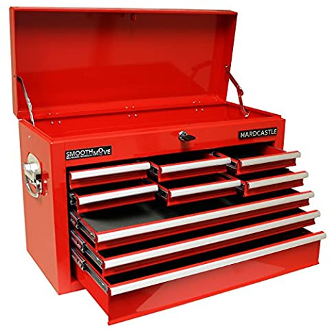 Hardcastle 9 Drawer Red Lockable Topchest Tool