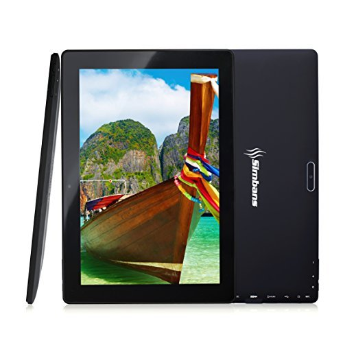 [3 Bonus Artículos] Simbans TangoTab 10 Pulgadas Tablet PC | 2 GB RAM, 32 GB Disco Android 8.1 Oreo, IPS pantalla, Quad Core, HDMI, 2 + 5 MP Camara, GPS, WiFi, USB, Bluetooth