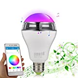 Bluetooth 4.0 LED-Lampen-Lautsprecher, Sunvito 3 in 1 Bunt RGB Musik-LED-Glühbirne 6W E27 / B22...