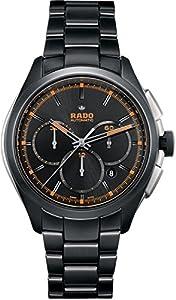 Rado Men's 45mm Black Steel Bracelet Ceramic Case Automatic Watch R32525162