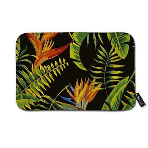 """Tropic Palm Banana Leaf und Pflanzen Badematte rutschfeste saugfähige super gemütliche Badezimmer Teppich Dekor Teppich 15,7""""x 23,6"""" Zoll"""