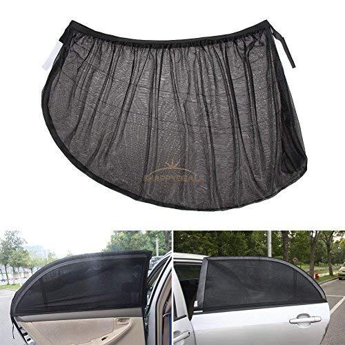 Arteki 2 x Car Side Rear Window Sun Visor Shade Mesh Cover Shield Sunshade UV Protector Window, XL Cover Shield Protector