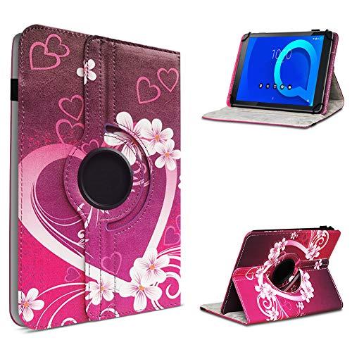 UC-Express Alcatel 1T 10 Tablet Hülle Tasche Schutzhülle Case Schutz Cover 360° Drehbar 10.1 Zoll Etui, Farbe:Motiv 2