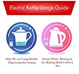 Kitchoff Black Automatic Stainless Steel Electric 1.8 Litre Kettle for Home & Office(Kl1)