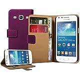 Membrane - Violet Portefeuille �tui Coque Samsung Galaxy Core Plus (GT-G3500 / SM-G350 / G3502) - Flip Case Cover Housse
