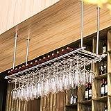 Great St. Hängende Weinregale Eisen Mehrzweck-Weinregale Wohnzimmer Bar Restaurant Weinregale Die Höhe des Auslegers kann eingestellt Werden (Farbe : Stainless Steel, größe : 150x30cm)