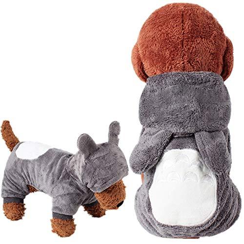 Halloween-Kostüm, Einhorn, weiches Fleece, Haustier-Kostüm, warm, Haustier Pyjama Kleidung Vierbein-Jumpsuit Cosplay Outfit XS Totoro