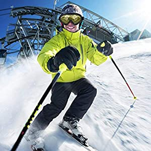 Sisaki Unisex Windschutzscheibe Ski Snowboard Motorrad Radfahren Brille Berg Brille Reinigung