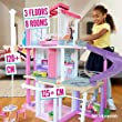 Barbie FHY73 Estate Dreamhouse Adventures Large Three-Story Dolls House, Pink with Transforming Accessories Included Playset, Multi-Colour