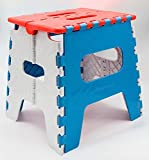 #2: Skyfun Adjustable Foldable Stepping Stool Non Slip Pick N Move Table for Kids Adults Kitchen Bathroom Garden Stool Table (Colour May Varry) (Small Stool)