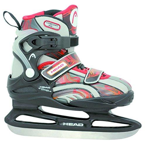 HEAD Kinder Schlittschuhe Ice Junior Pro Adjustable, schwarz/Orange/rot, 26-31, W2JR30