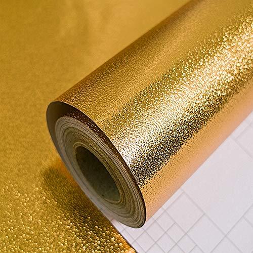 Preisvergleich Produktbild ZCHENG Goldfolientapete Goldfolientapete Goldenes Deckennetz Rot KTV Bar Deckenplatte Papier Wohnzimmerwand,  Mattgold (selbstklebend 2 Meter Preis)