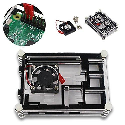 Comaie Schutzhülle für Raspberry Pi (9 Schichten, Acryl, transparent) (Raspberry Pibow)
