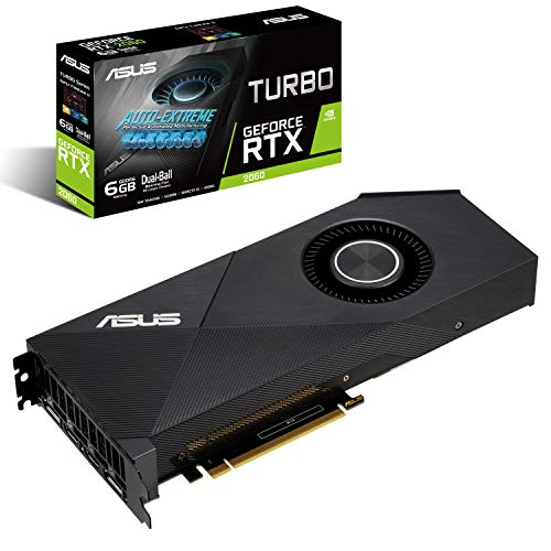 ASUS GeForce RTXTM 2060 6G Turbo Edition GDDR6 HDMI DP 1.4 (Turbo RTX2060-6G)