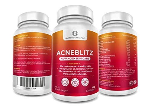 #1 Acneblitz for Fighting Spots, Blemishes and Oily Skin MADE IN UK with Pantothenic Acid, Collagen, Zinc, and Co-enzyme Q10 Test
